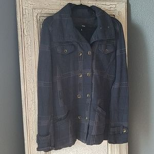 Hurley double breasted blue coat
